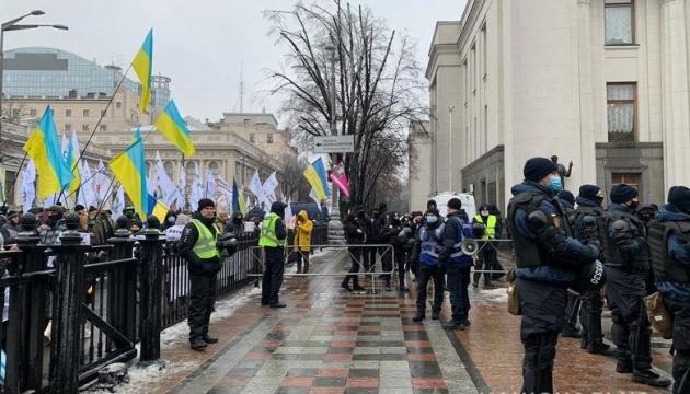 Поліція посилила заходи безпеки через акції в урядовому кварталі