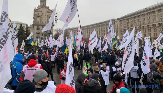 Protestaktion: Kleinunternehmer wollten Zelten auf Maidan aufstellen