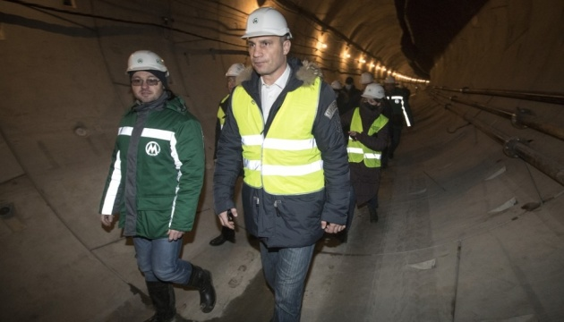 Кличко запевнив: дві станції метро на Виноградар відкриють наступного року