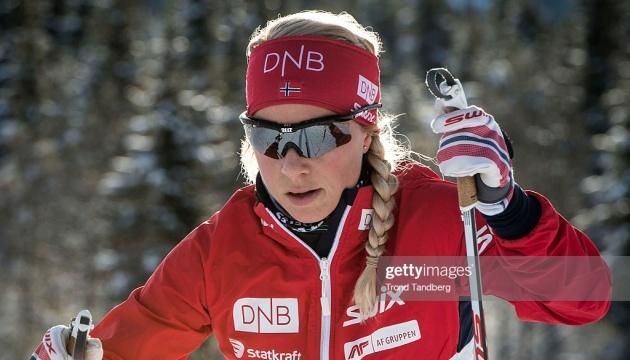 Норвежка Екгофф виграла персьют етапу Кубка світу з біатлону в Австрії