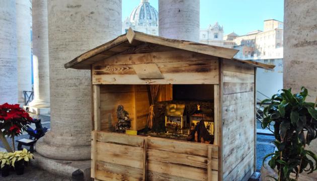 Украинский вертеп впервые стала экспонатом на выставке «100 вертепов в Ватикане»