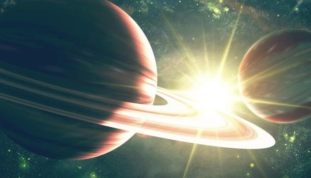 Saturno y Júpiter formando la
