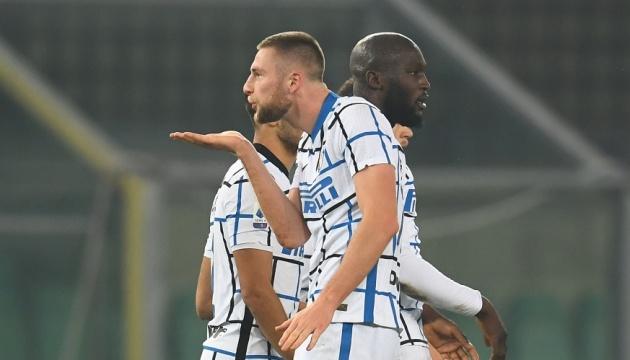 «Інтер» обіграв «Верону» і очолив турнірну таблицю італійської Серії А
