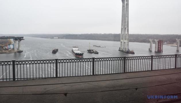 Saporischschja: Selenskyj eröffnet Balkenbrücke über den Dnirpo