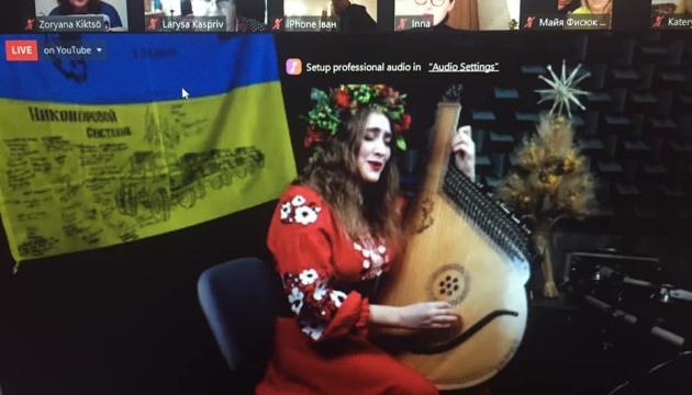 Українська бандуристка зіграла різдвяний концерт для українців Швеції
