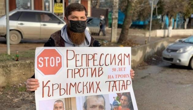 У Криму пройшов черговий одиночний пікет проти репресій