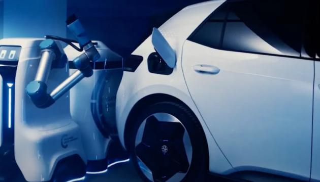 Volkswagen представив прототип автономного робота-зарядки