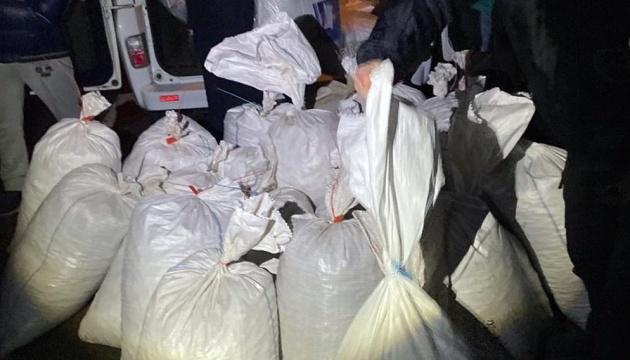 На трассе Киев-Чоп остановили грузовик с 723 кг янтаря