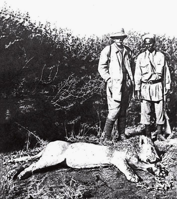 Владислав Городецький під час полювання в Африці А
