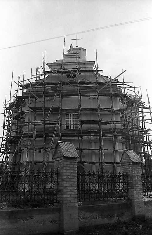 Реставрація костелу в 1992 році