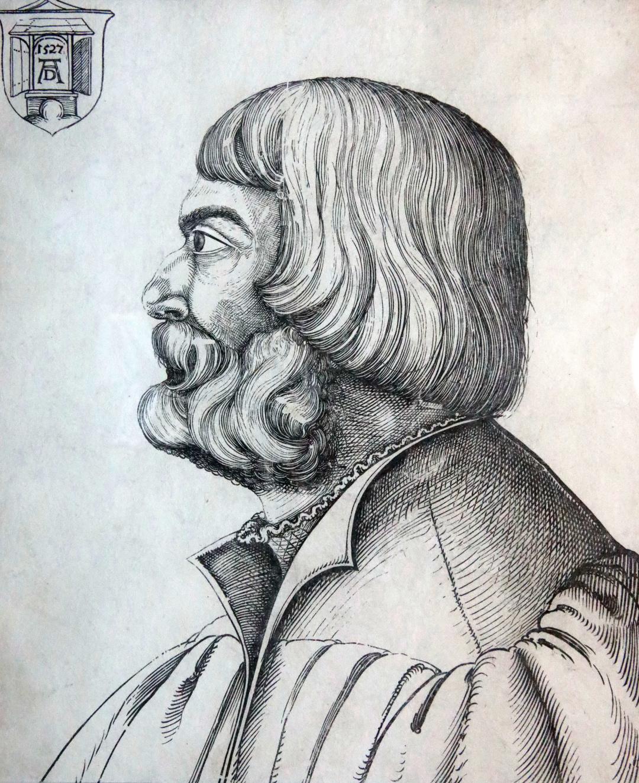 Портрет Альбрехта Дюрера (гравюра на дереві), XVI ст.