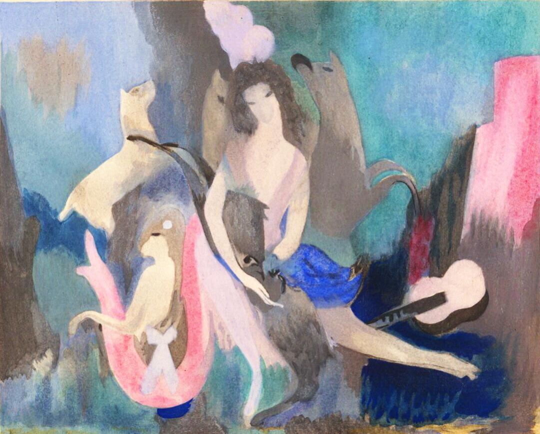 Ідея для задньої завіси балету Лані, Марі Лорансен, 1923 р