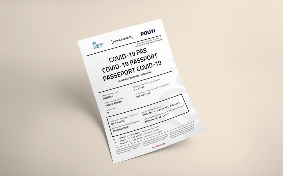 Документ, який можна отримати через сайті МОЗ Данії, містить інформацію датською, англійською та французькою мовами