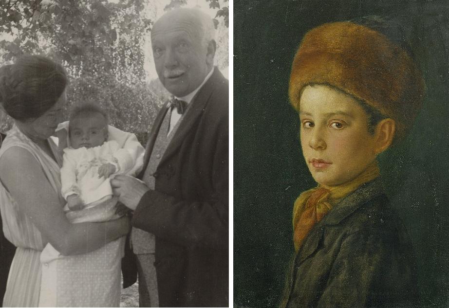 Ріхард Штраус з невісткою Алісою; справа картина