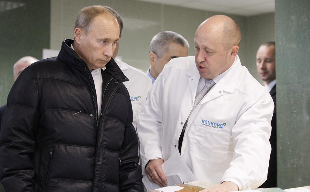 Владимир Путин и Евгений Пригожин / Фото: Алексей Дружинин / РИА Новости