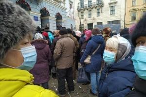 Proteste gegen erhöhte Gas- und Strompreise in Oblast Tscherniwzi