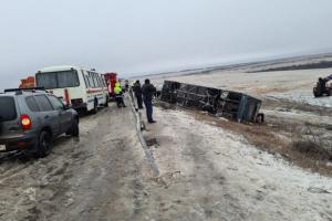 ロシアで占領下ドンバスへ向かうバスが横転 死傷者あり