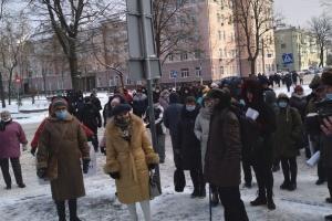 В Житомире устроили «тарифный пикет» под облгазом и облэнерго
