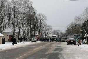 Біля Калуша знову перекрили дорогу через підвищення тарифів