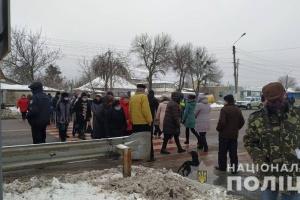 На Харьковщине участники тарифных протестов перекрывали две трассы