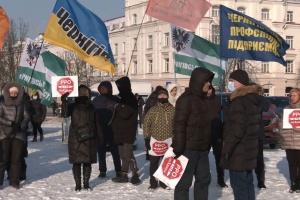 В Чернигове предприниматели автопробегом протестовали против локдауна и РРО