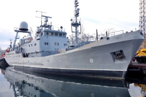 Украинский корабль-разведчик «Симферополь» в третий раз выходит в море на испытания