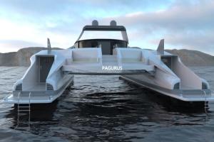 В Італії показали дизайн супер'яхти-краба на сонячній енергії