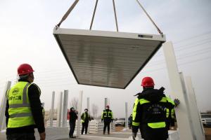 В Китае за пять дней построили COVID-больницу на 1,5 тысячи палат