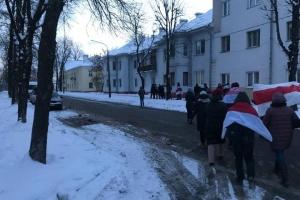 Несмотря на морозы, жители Беларуси вышли на «протестные прогулки»