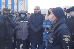 В Харькове «евробляхеры» пикетировали патрульную полицию из-за штрафов