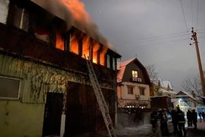 В Киеве горел жилой дом