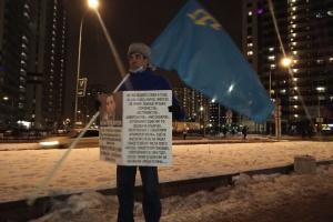 У Петербурзі затримали сімох учасників пікету на підтримку кримських татар