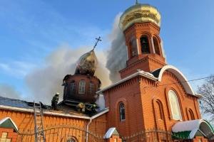 В Днепропетровской области горела церковь