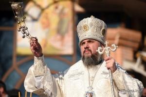 Епифаний освятил днепровскую воду в киевском Гидропарке