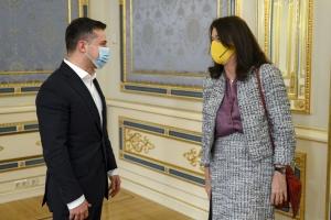 Зеленский встретился с действующей главой ОБСЕ - о чем говорили