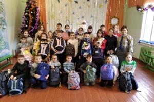 Сумівці зі США передали різдвяні подарунки дітям учасників АТО з Київщини