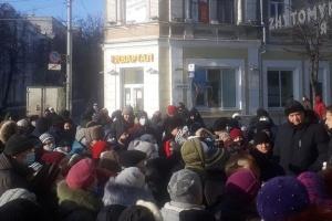 В Житомире участники акции против роста тарифов требовали отставки Кабмина