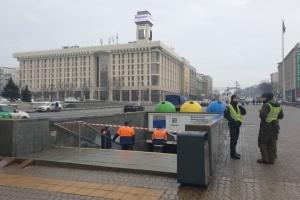 У підземному переході на Майдані обвалилася частина стелі