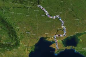 «Ланцюг Соборності» між Києвом та Сімферополем зібрав понад 37 тисяч учасників