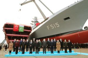 В Турции спустили на воду первый отечественный фрегат
