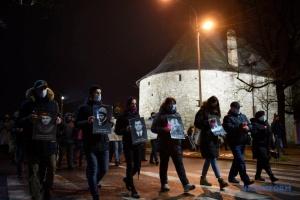 Во Львове прошло «Тихое шествие» в память Героев Небесной Сотни