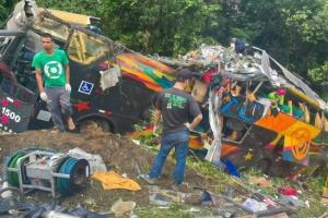 В Бразилии перевернулся автобус, 21 погибший