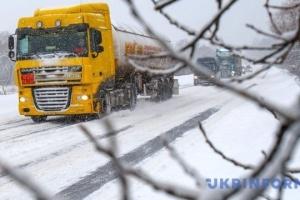 Odessa für Lkws wegen Schneefalls gesperrt
