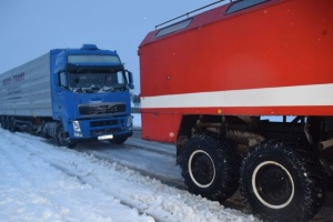 На Николаевщине из-за непогоды - пробки из десятков грузовиков