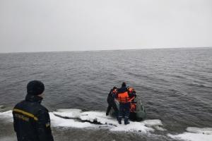 Рибалку з Кіровоградщини віднесло на крижині в іншу область