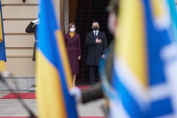 Maia Sandu arrive en Ukraine pour une visite officielle