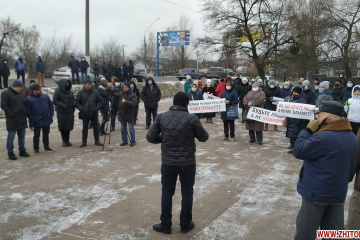 Les habitants de Zhytomyr bloquent une autoroute pour protester contre l'augmentation des prix du gaz et de l'électricité