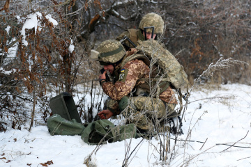 Invaders violate ceasefire in Donbas five times