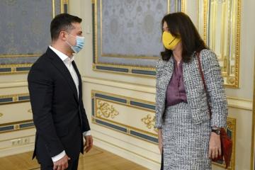 Zelensky et Linde ont discuté de la situation sécuritaire dans le Donbass et en Crimée