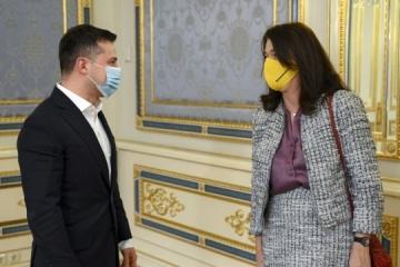 Zełenski spotkał się z przewodniczącą OBWE - o czym rozmawiali